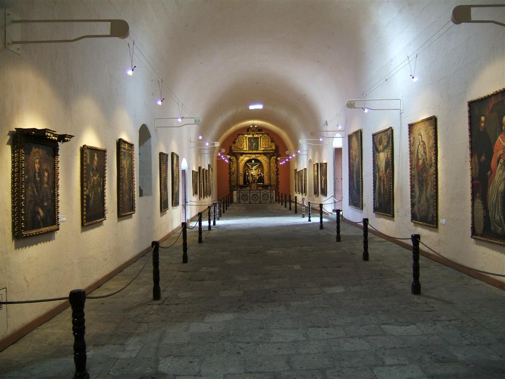 Art gallery at the Convent of Santa Catalina