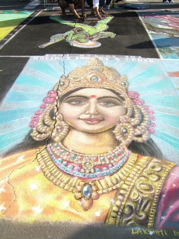 Indian chalk painting