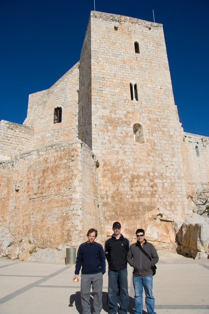 Pete, Colan, and Chris at Castell de Peñíscola
