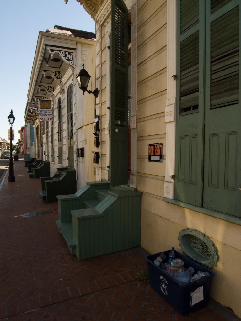 The signs of the French Quarter; For Sale, For Rent