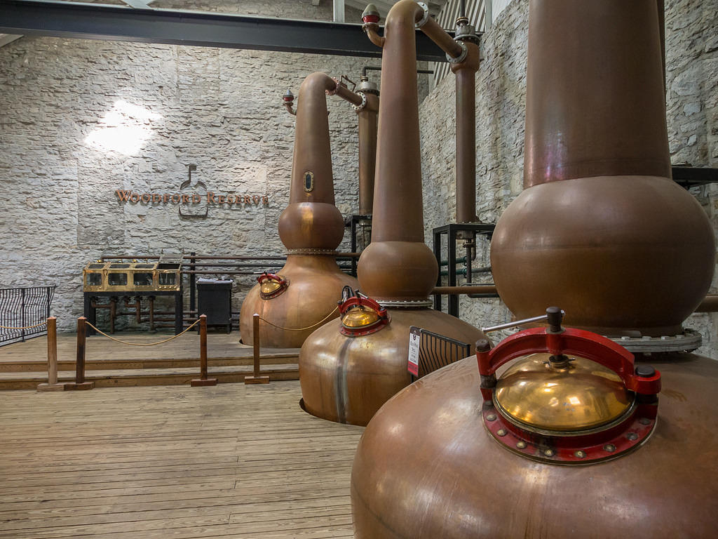 Woodford Reserve's three pot stills