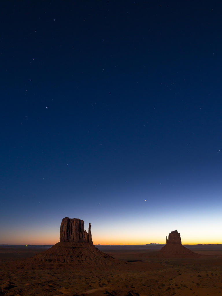 Dawn in Monument Valley - long exposure