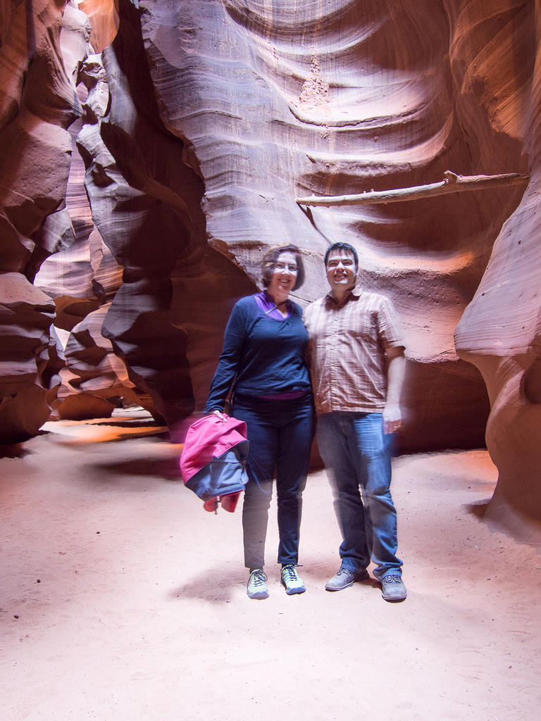 Anna and Chris in Antelope Canyon