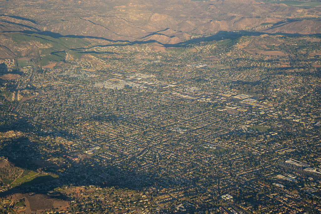 Escondido from the air