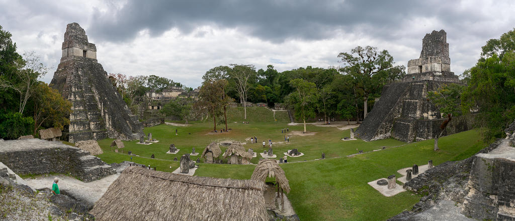 Tikal Temple I & II from North Acropolis