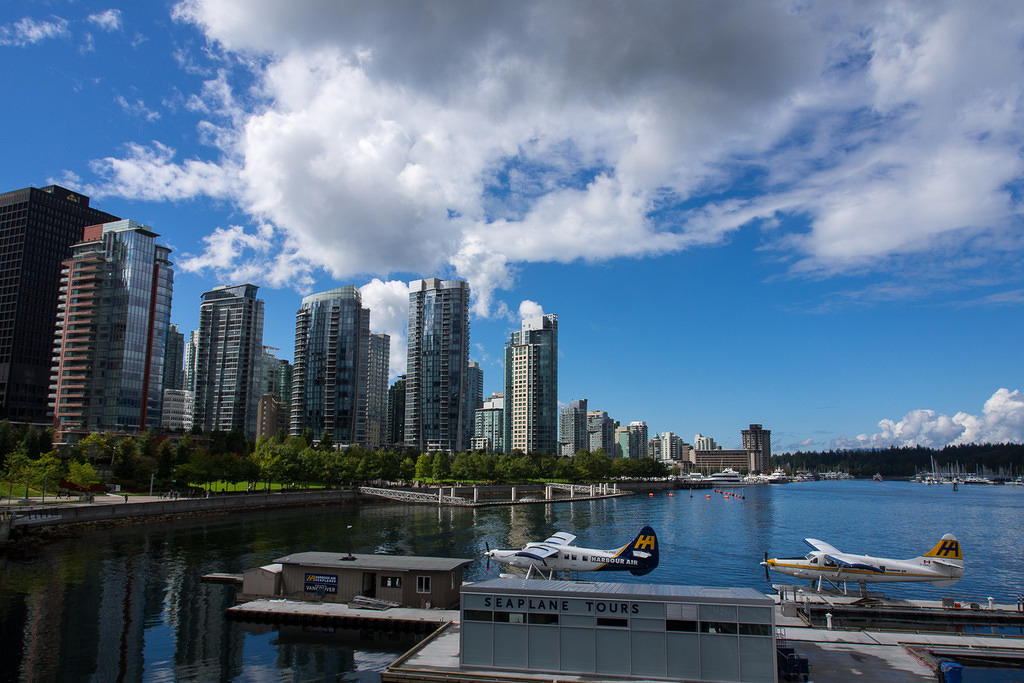 Seaplanes and skyline