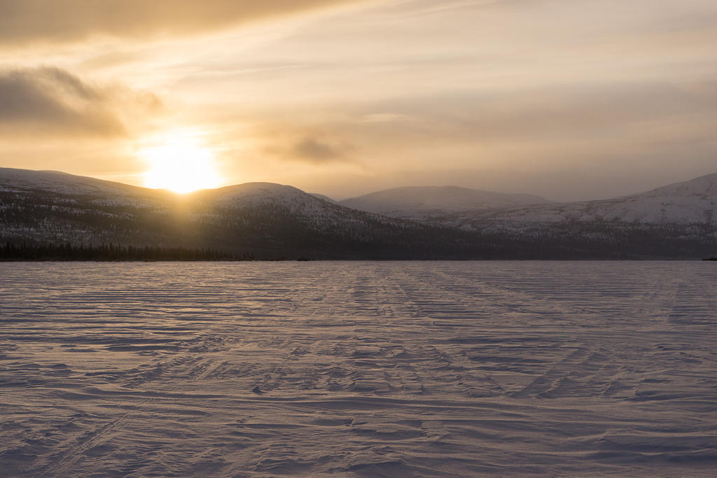 Fish Lake icy sunrise