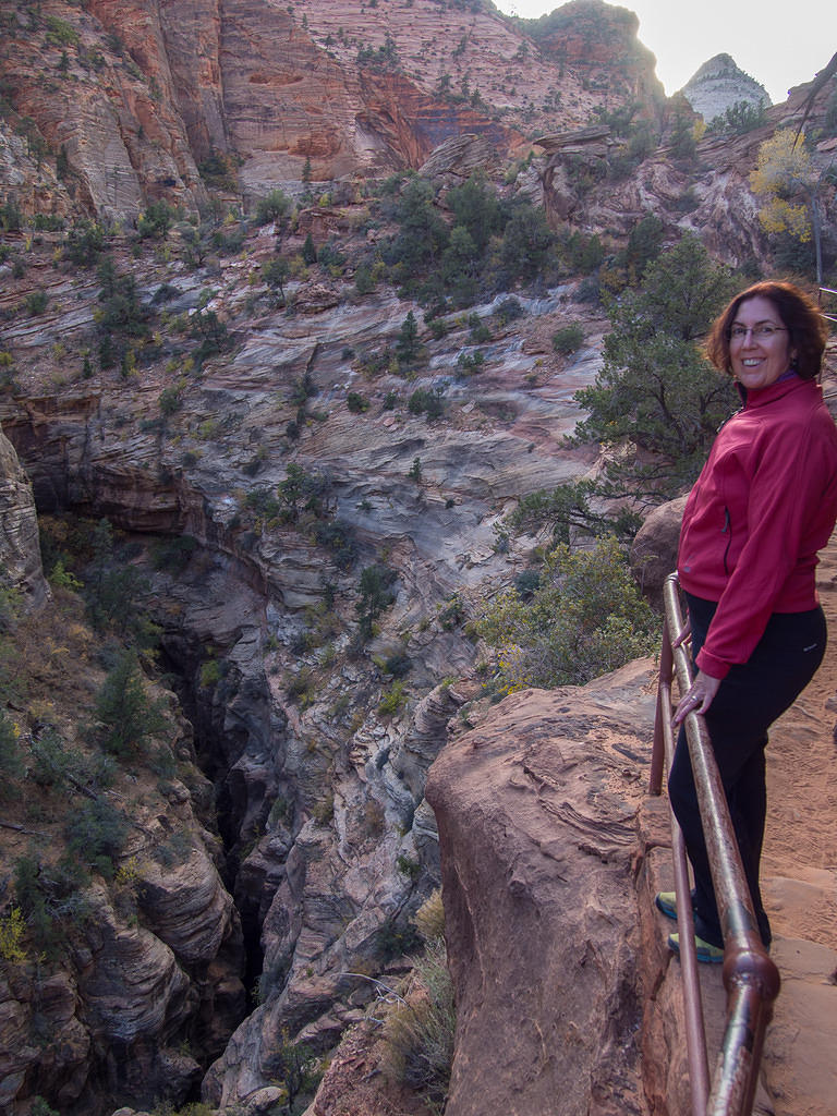 Anna on Zion Canyon Overlook Trail