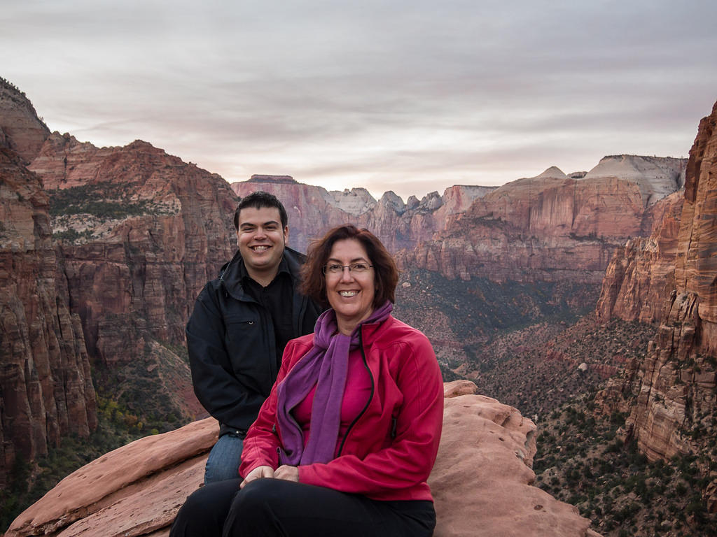 Chris and Anna at Zion's Canyon Overlook