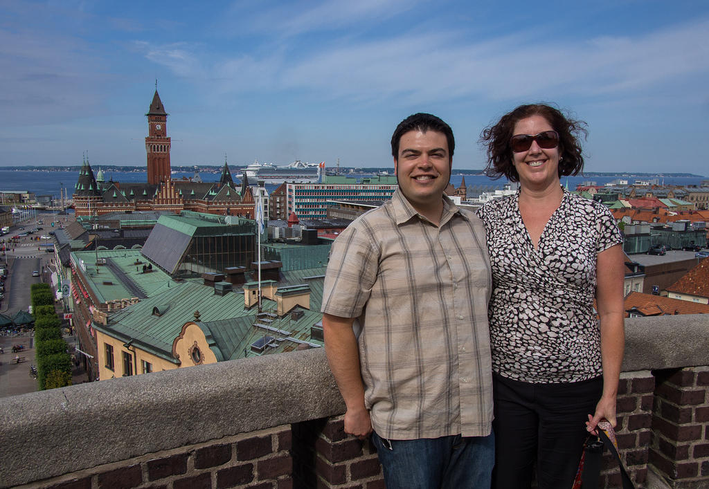 Chris and Anna in Helsingborg
