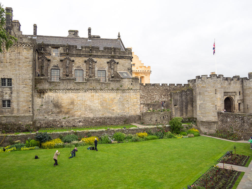Groundskeeping commercial shoot at Stirling Castle