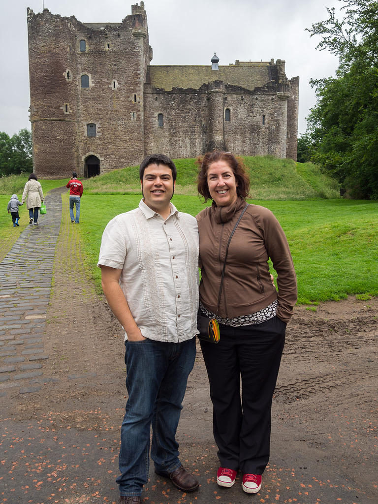 Chris and Anna at Doune Castle