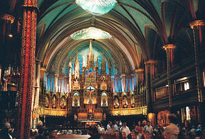 Montreal's Notre Dame Cathedral