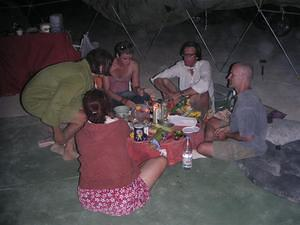 Feasting in the geodesic dome