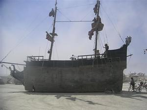 Full view of the ship
