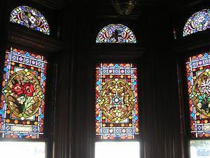 Villa Montezuma's stained glass windows