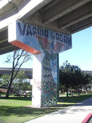 Varrio Logan peacock painting in Chicano Park