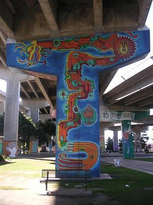 Sueno Serpiente mural in Chicano Park