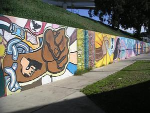 UFW along the handball wall in Chicano Park