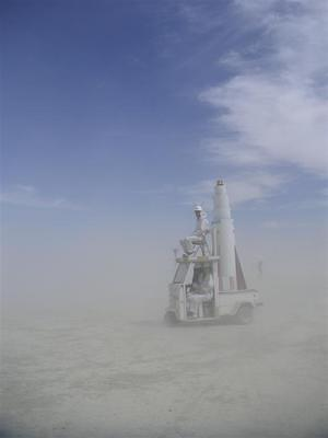 Mission control, we can't find the launch pad.  We seem to be stuck in a dust storm