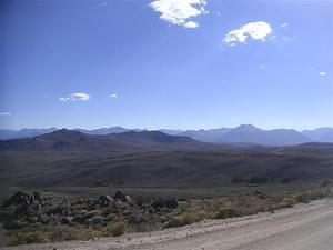 View of the Sierra Nevada Mountains from Bodie