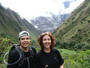 Chris and Anna 2/3rds of the climb up dead woman's pass