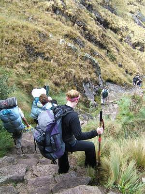 Porters run by us, downhill with full loads