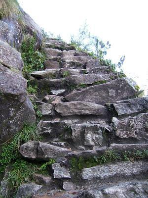 Steps up to Sayaqmarka are not for the faint of heart