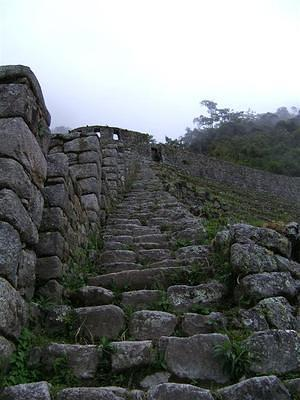Terrace steps at Wiñawayna, leading to the sun temple