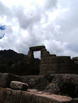 Entrance to the sun temple of Pisaq