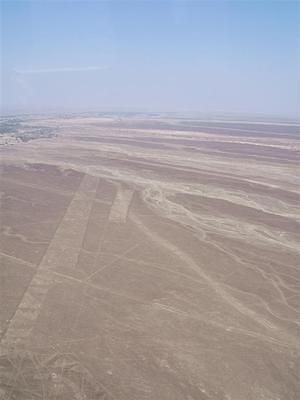 Looking out over the Nazca lines.