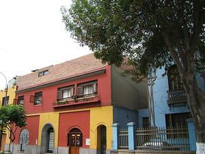 Multicolor buildings in Barranco