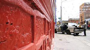 Red wall car repair