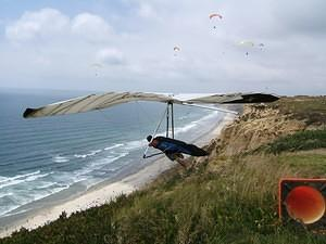 Gliding off Torrey Pines cliffs