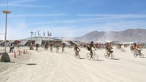 Rush hour at Burning Man