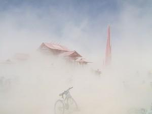 Temples in the dust storm