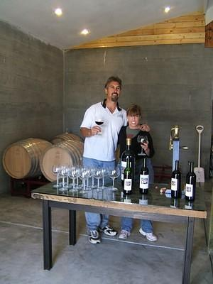 Mark and Sandy in their new winery