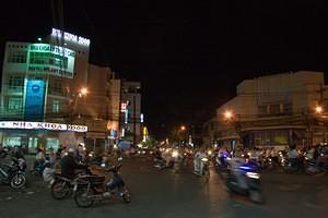 Saigon night traffic