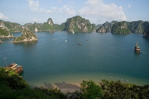 Looking down on Ha Long