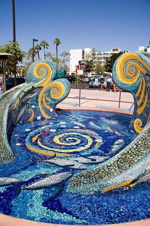 Sun Harbor's mosaic fountain