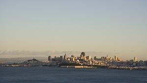 San Francisco in the last light of the day