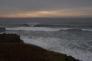 Surf and sunset near Yaquina Head