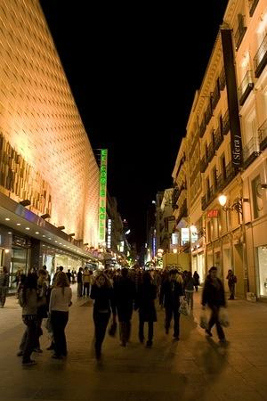 Night shopping in el Corte Ingles