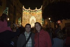 Anna and Chris at Iluminación Falla Sueca-Literato Azorín