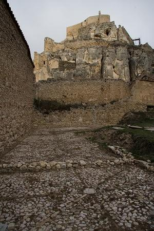 Old courtyards and Morella's castle