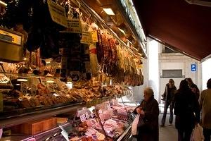 Meat counter at St Josep