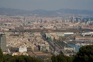 Looking down on Port Vell and Parc de la Ciutadella