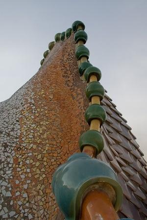 Ceramic tiles line the roof's arch