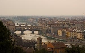 Bridges of Florence from Piazzale Michelangelo