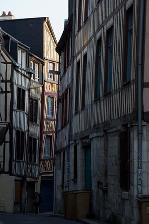 Rouen's half-timbered medieval houses